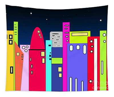 City In Space Tapestry