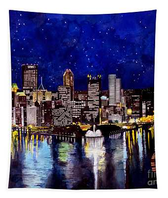 City Of Pittsburgh At The Point Tapestry
