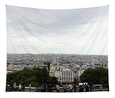 City Viewed From Sacre-coeur Basilica Tapestry