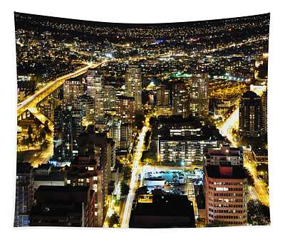 Cityscape Golden Burrard Bridge Mdlxiv Tapestry