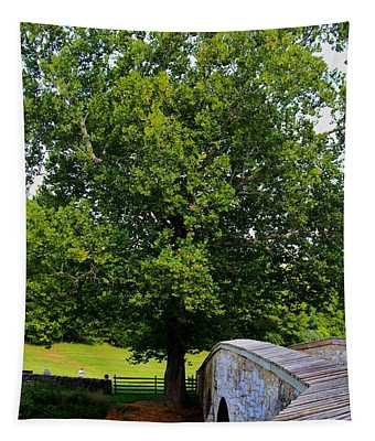 Tapestry featuring the photograph Civil War Era Eastern Sycamore Tree by Patti Whitten
