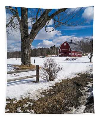 Classic New England Farm Scene Tapestry