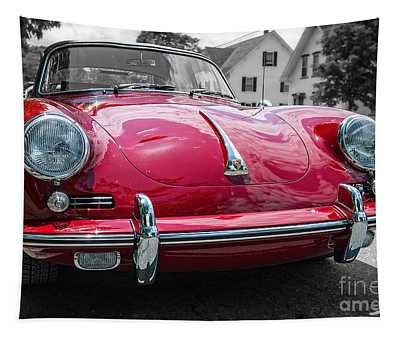 Classic Red Sports Car Tapestry