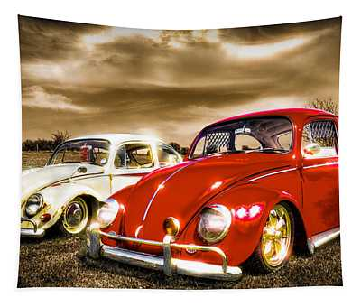 Classic Vw Beetles Tapestry