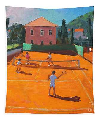 Clay Court Tennis Tapestry
