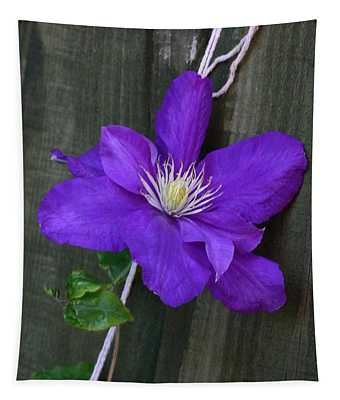 Clematis On A String Tapestry