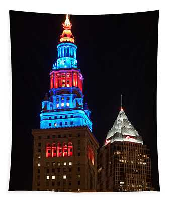 Cleveland Towers Tapestry