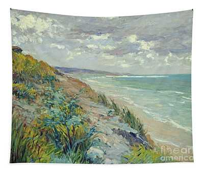 Cliffs By The Sea At Trouville  Tapestry