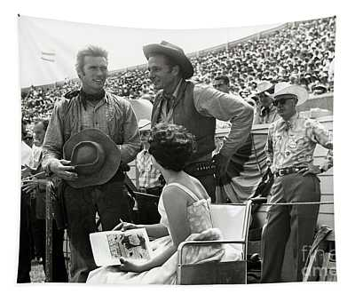 Clint Eastwood  Eric Fleming Characters Rowdy Yates Salinas California 1962 Tapestry