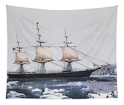 Clipper Ship Red Jacket In The Ice Off Cape Horn On Her Passage From Australia To Liverpool Tapestry