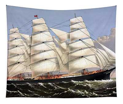 Clipper Ship Three Brothers Tapestry