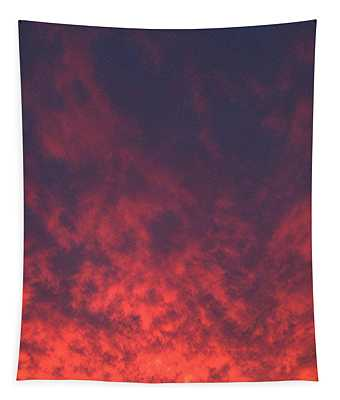Clouds Ablaze Tapestry