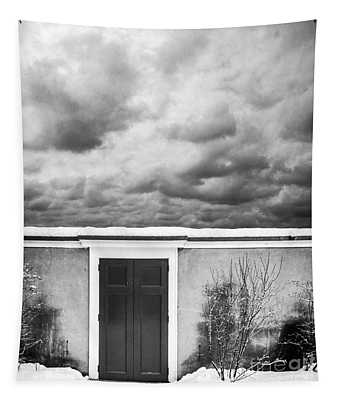Clouds Beyond The Wall Tapestry