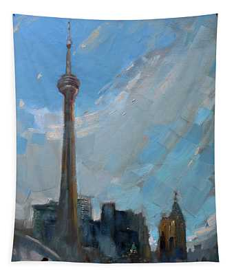 Cn Tower Toronto Tapestry
