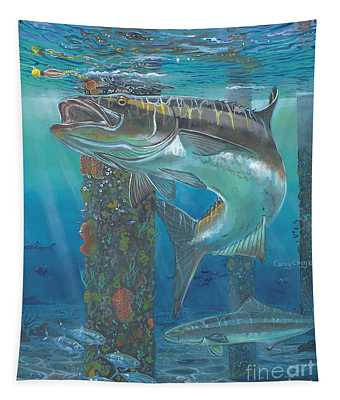 Cobia Strike In0024 Tapestry