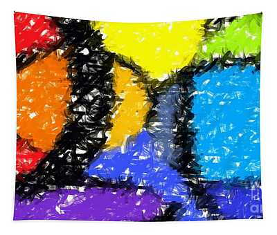 Colorful Abstract 3 Tapestry