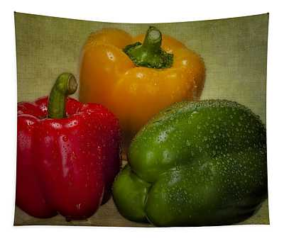 Colorful Bell Peppers Tapestry