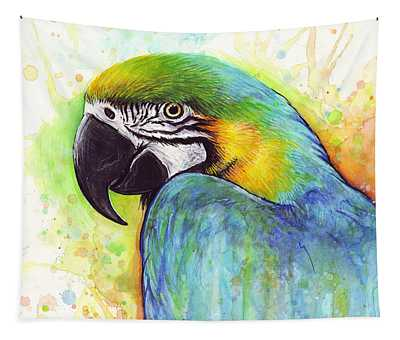 Macaw Paintings Wall Tapestries
