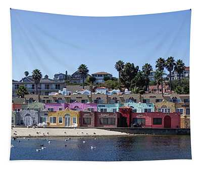 Colorful Buildings And Beach Tapestry