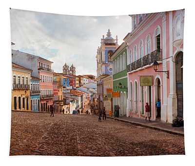 Colorful Buildings, Pelourinho Tapestry