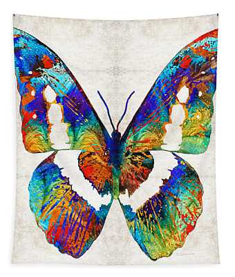 Colorful Butterfly Art By Sharon Cummings Tapestry