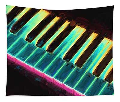 Colorful Keys Tapestry