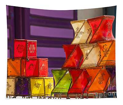 Colorful Lanterns Tapestry
