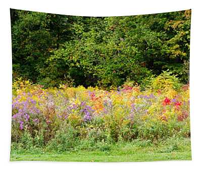 Colorful Meadow With Wild Flowers Tapestry