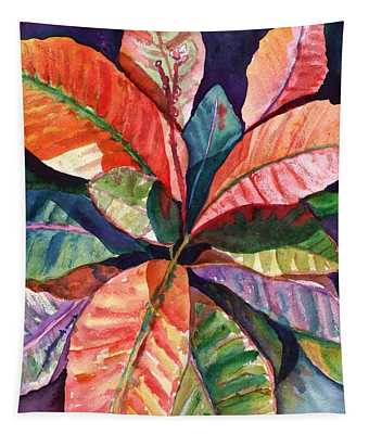 Colorful Tropical Leaves 1 Tapestry