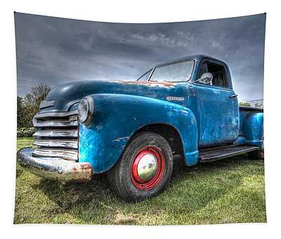 Colorful Workhorse - 1953 Chevy Truck Tapestry