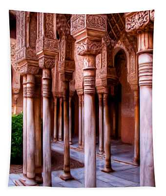 Columns Of The Court Of The Lions - Painting Tapestry