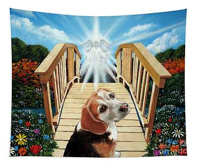 Come Walk With Me Over The Rainbow Bridge Tapestry