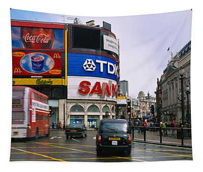 Commercial Signs On Buildings Tapestry