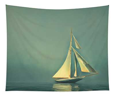 Cool Blue Sea Tapestry