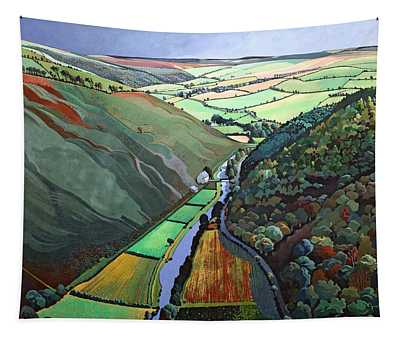 Coombe Valley Gate, Exmoor, 2009 Acrylic On Canvas Tapestry