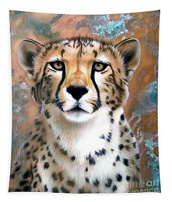 Copper Flash - Cheetah Tapestry