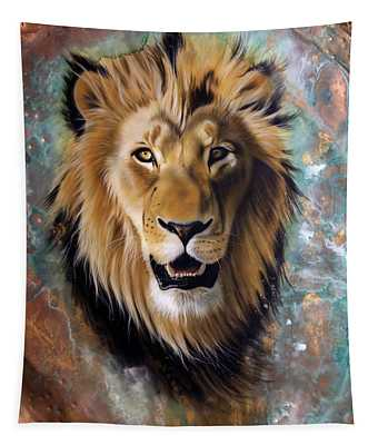 Copper Majesty - Lion Tapestry