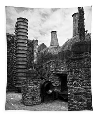 Copper Pot Stills And Column Still At Lockes Distillery Bw Tapestry