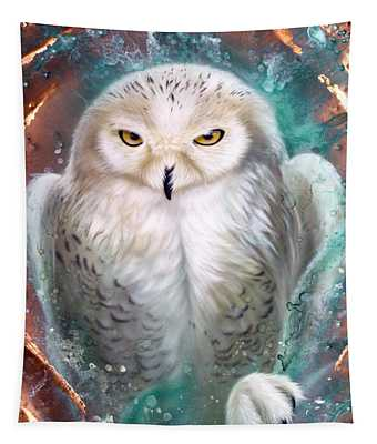 Copper Snowy Owl Tapestry