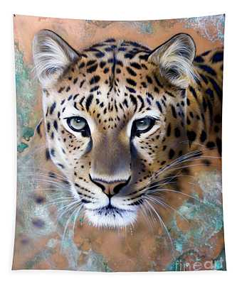 Copper Stealth - Leopard Tapestry