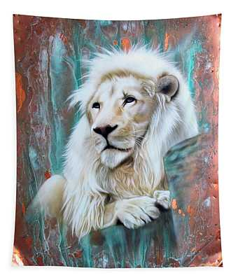 Copper White Lion Tapestry