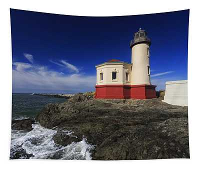 Coquille River Lighthouse 3 Tapestry