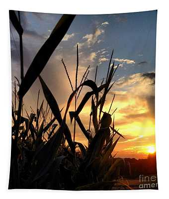 Cornfield Sundown Tapestry