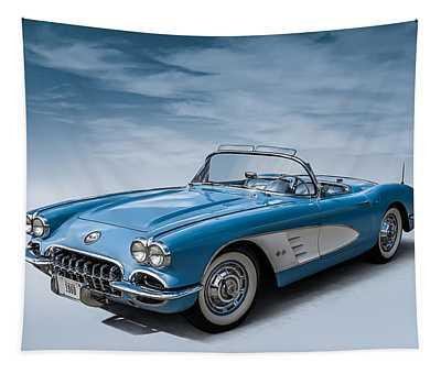 Corvette Blues Tapestry