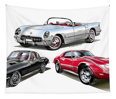Corvette Generation Tapestry