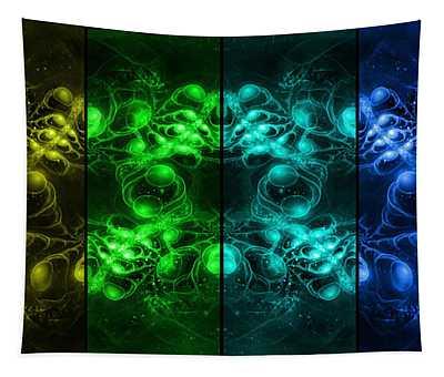 Cosmic Alien Eyes Pride Tapestry