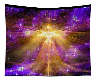 Tapestry featuring the digital art Cosmic Angel by Shawn Dall