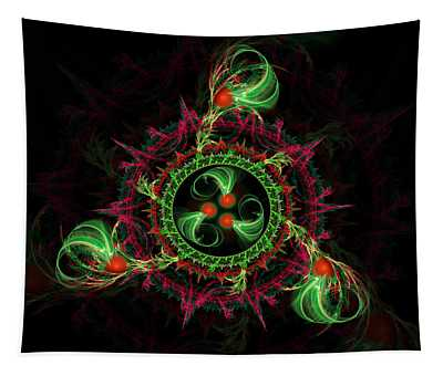Tapestry featuring the digital art Cosmic Cherry Pie by Shawn Dall