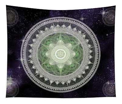 Tapestry featuring the digital art Cosmic Medallians Rgb 2 by Shawn Dall