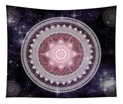 Cosmic Medallions Fire Tapestry